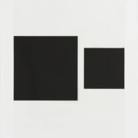 "Cris Gianakos ""Untitled (2 black squares)"""