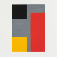 "Cris Gianakos ""Untitled (grå-svart-röd-gul)"""