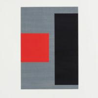 "Cris Gianakos ""Untitled (grå-svart-röd)"""