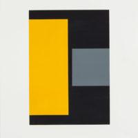 "Cris Gianakos ""Untitled (svart-gul-grå)"""